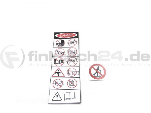 Sicherheitsaufkleber Handhubwagen